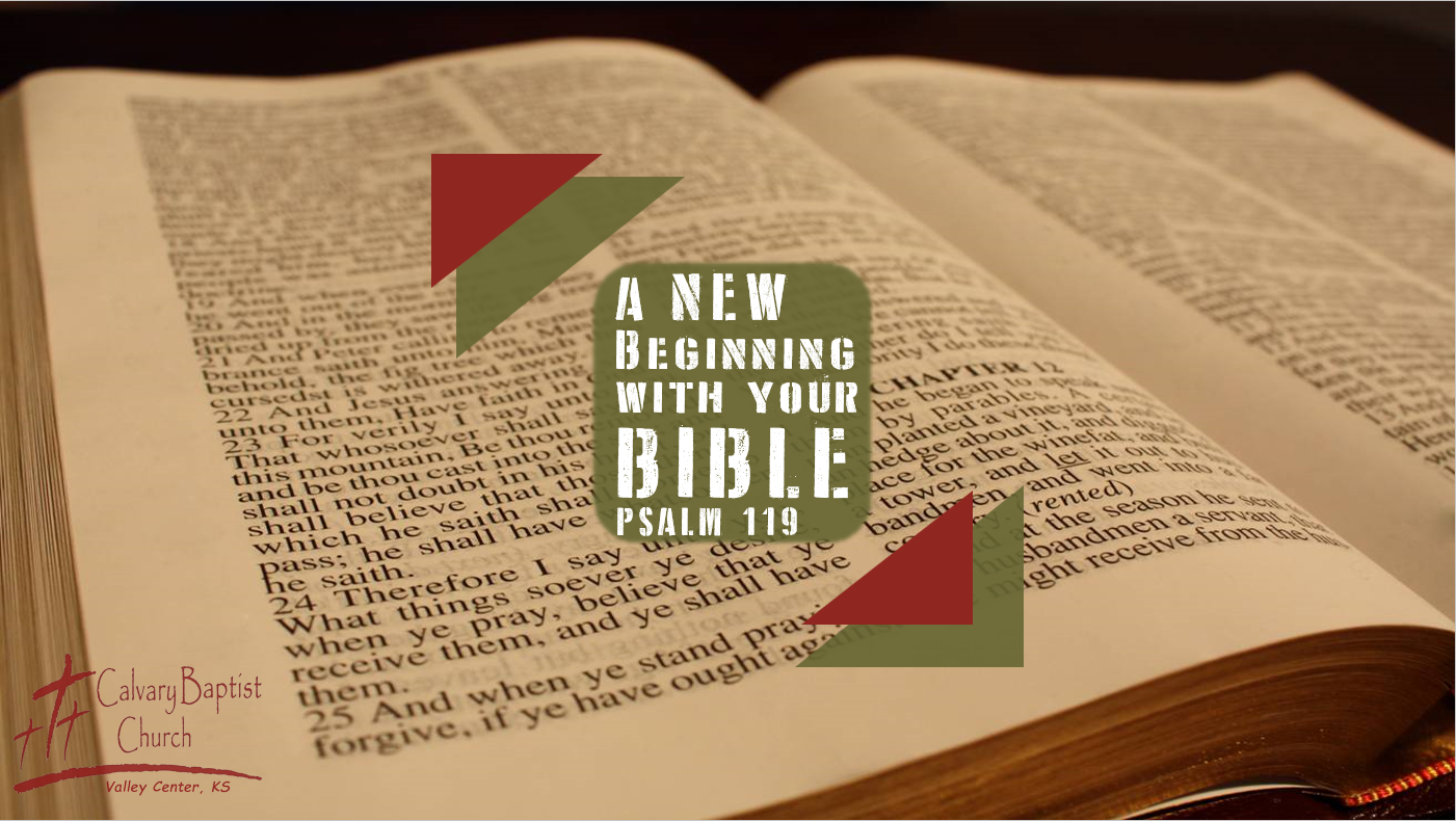A NEW Beginning With Your Bible
