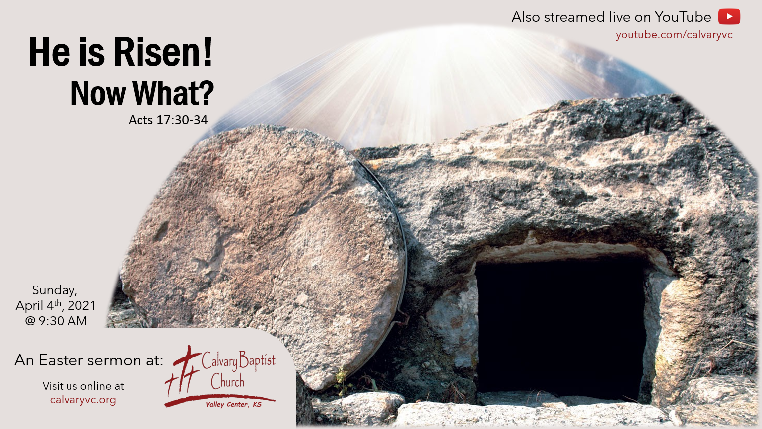 He is Risen! Now What?